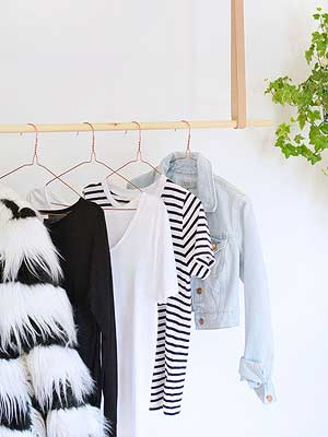 8 Ways to Style a Clothing Rack