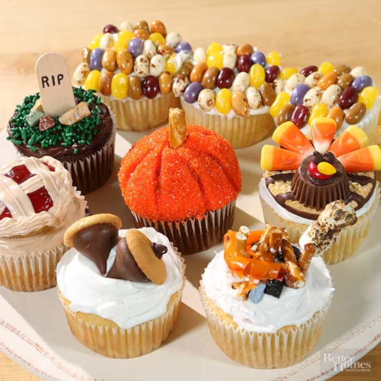 7 Adorably Decorated Fall Cupcakes