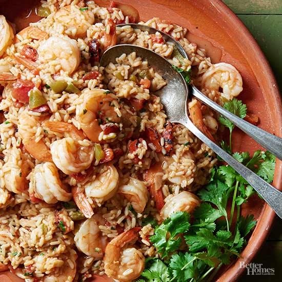 Mexican Red Rice with Shrimp