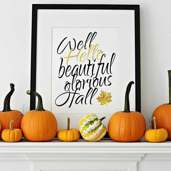 6 Inexpensive Festive Fall Mantels