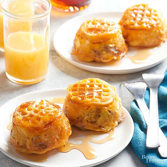 Upside-Down Waffle and Egg Cups