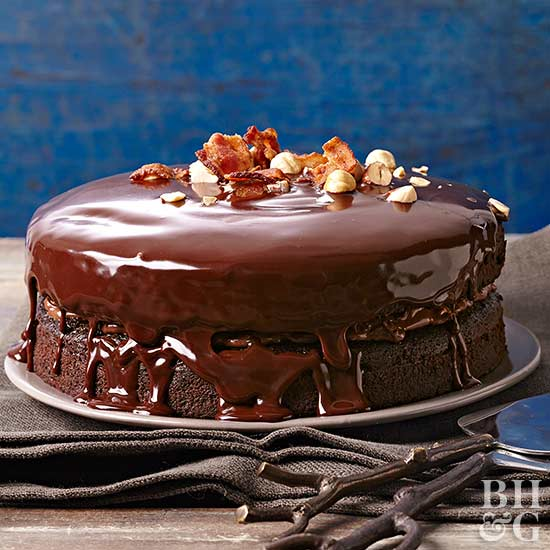 Chocolate-Hazelnut Bacon Layer Cake