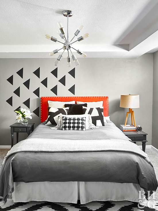 look for ways to make your small bedroom special decorate a bedroom with punchy fabrics and expressive patterns choose interesting lighting such as a - Ways To Decorate A Bedroom