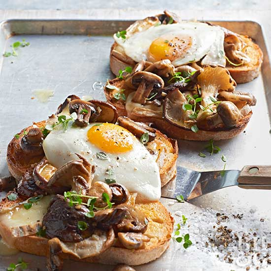 Mushroom & Cheese Sourdough Toasts
