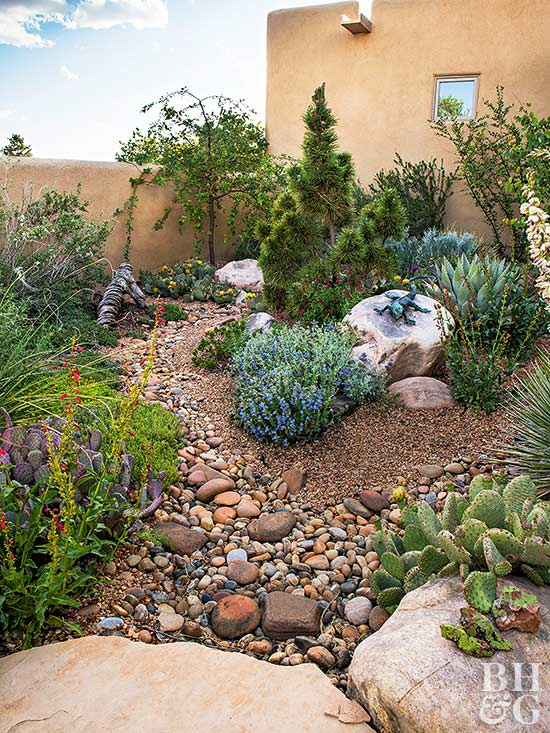 Create a water wise landscape for Smooth stones for landscaping