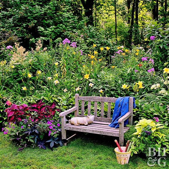 though this garden is primarily shady it flaunts the rules and plants sunloving perennials thankfully most sun loving plants will tolerate partial shade - Flower Garden Ideas Partial Sun