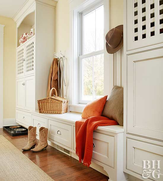 Foyer Built In Cabinets : Beautiful entryway built ins you ll want to copy asap