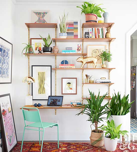 DIY Midcentury Shelving Unit