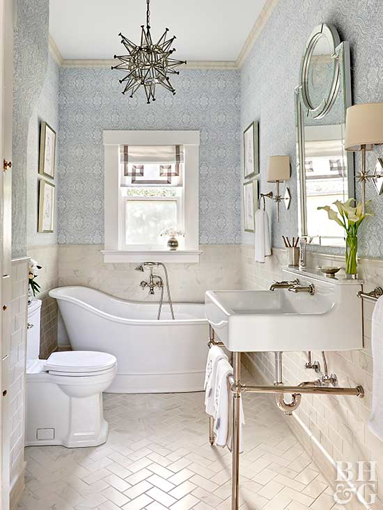 add interest with texture - Traditional Bathroom Tile Designs