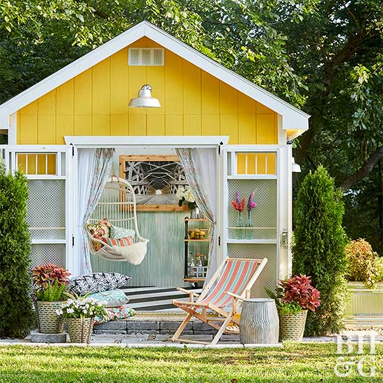 Amazing makeover ideas for your garden shed for Bhg greenhouse