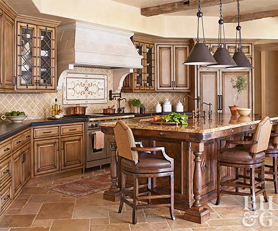 Charming Dark Tuscan Kitchen