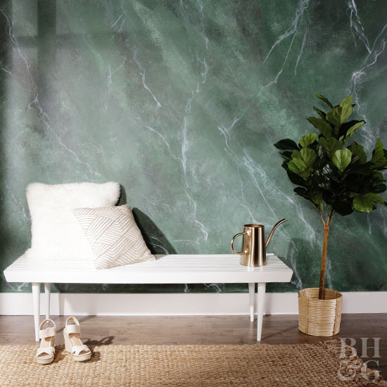 How To Paint A Marble Inspired Wall
