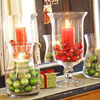 Ornament Filled Candle Holder