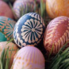 Orange Accented Easter Eggs