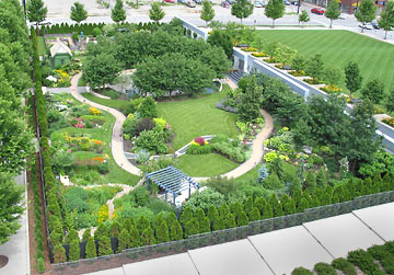 public tours of the better homes and gardens test garden - Garden Design Birds Eye View