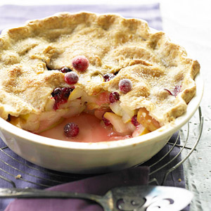 Pear-Cranberry Deep-Dish Pie