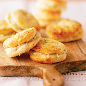 Green Onion Parker House Biscuits