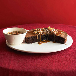 Flourless Chocolate-Pecan Cake