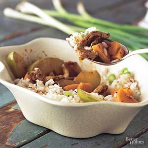 Jamaican Pork and  Sweet Potato Stir-Fry