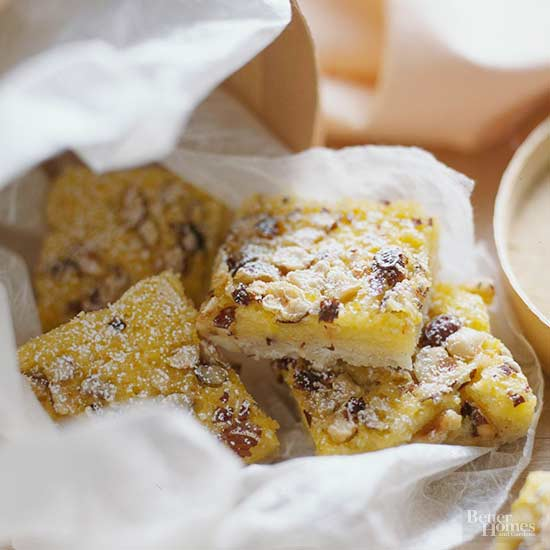 Citrus-Hazelnut Bars