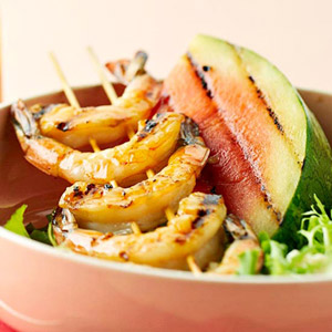 Grilled Watermelon-Shrimp Salad