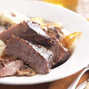 Wine-Braised Brisket with Onions