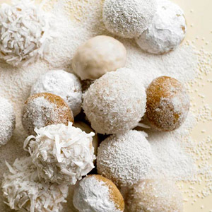Spice Snowball Cookies (Lemon-Ginger Snowballs)