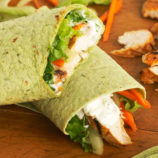 Buffalo-Style Turkey Wraps