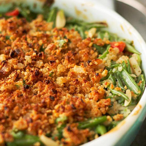 Delightfully Light Green Bean Casserole