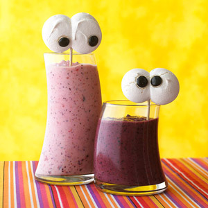 Spooky Blueberry Smoothies