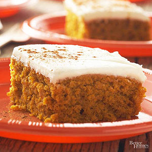 Autumn Pumpkin Bars
