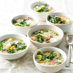 Danish Gronkaal Soup (Green Kale Soup)