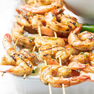 Grilled Chile-Lime Shrimp