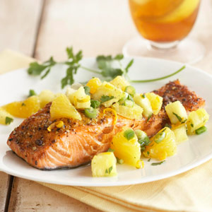 Grilled Salmon with Citrus Salsa