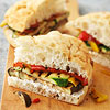 Grilled Vegetables on Focaccia