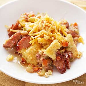 Corn Bread-Topped Sausage Bake