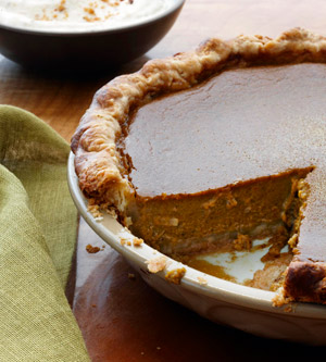 Pumpkin Pie with Hazelnut Mousse