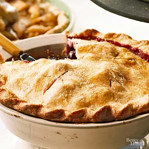 Grape and Pear Pie