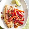 Pan-Fried Fish with Peppers & Pecans
