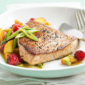 Tuna and Fruit Salsa
