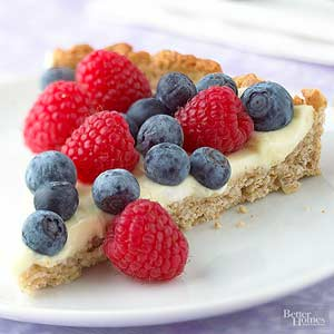 Blueberry-Raspberry Tart with Lemon Cream