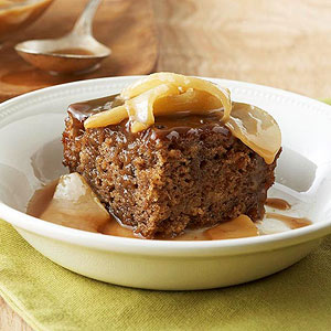 Toffee-Pear Sticky Pudding