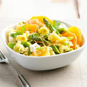 Orange, Mint, and Asparagus Pasta Salad