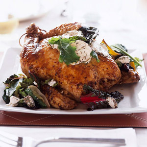 Chicken, Goat Cheese, and Greens