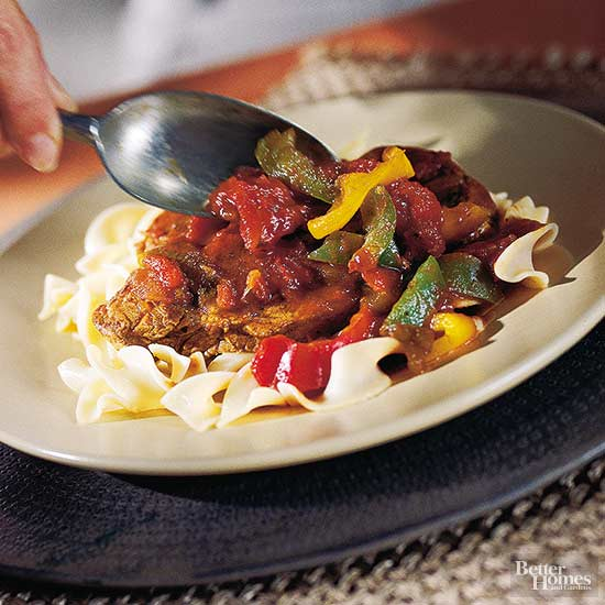 Italian Pepper Steak Slow-Cooker Dinner