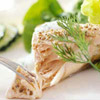 Poached Salmon with Dilled Sour Cream