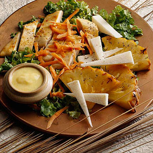 Broiled Pineapple Chicken Salad