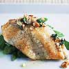 Pan-Seared Tilapia with Almond Browned Butter and Snow Peas
