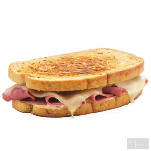 Grilled Swiss and Corned Beef Sandwich