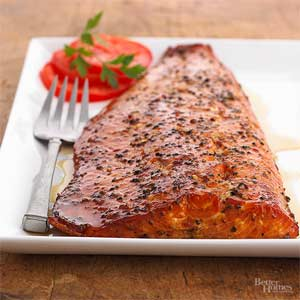Maple-Smoked Salmon Fillets